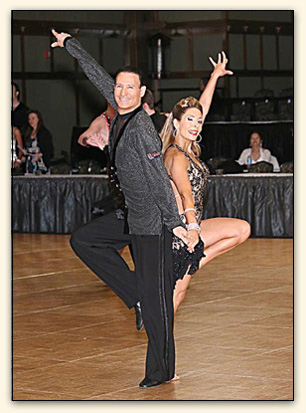 Dan Radler and Ballroom Dancer Student